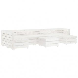 vidaXL 8-tlg. Garten-Lounge-Set aus Paletten Holz Weiß