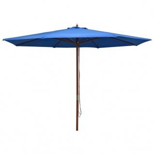 vidaXL Sonnenschirm mit Holzmast 350 cm Blau
