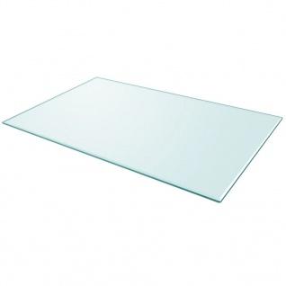 vidaXL Tischplatte aus gehärtetem Glas rechteckig 1000x620 mm