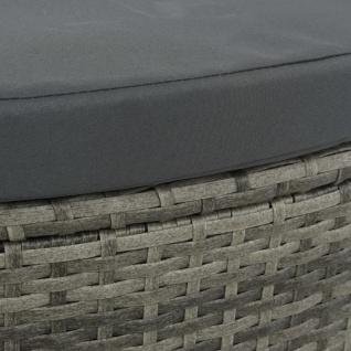 vidaXL 2-Sitzer-Gartensofa mit Auflagen und Sonnenschirm Grau Poly Rattan - Vorschau 3