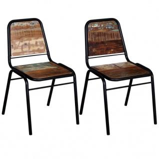 vidaXL Esszimmerstühle 2 Stk. Altholz Massivholz