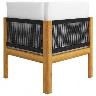 vidaXL 2-Sitzer-Gartenbank mit Kissen Massivholz Akazie - Vorschau 5