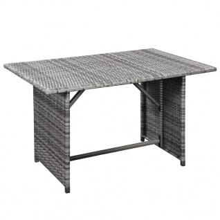 vidaXL 10-tlg. Garten-Lounge-Set mit Auflagen Poly Rattan Grau - Vorschau 2