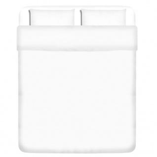 vidaXL 3-tlg. Bettwäsche-Set Baumwolle Weiß 200x200/60x70 cm