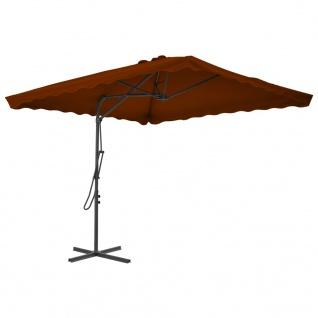 vidaXL Sonnenschirm mit Stahlmast Terracotta-Rot 250x250x230 cm