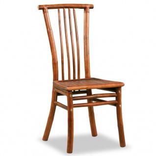 vidaXL Esszimmerstühle 4 Stk. Bambus 43 x 56 x 98 cm Braun - Vorschau 2