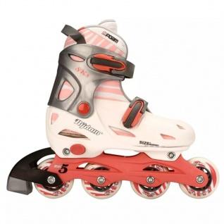 Nijdam Junior Inline-Skates 38-41 rosa/anthrazit 52SC