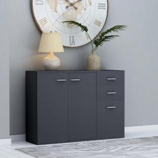 vidaXL Sideboard Grau 105 x 30 x 75 cm Spanplatte