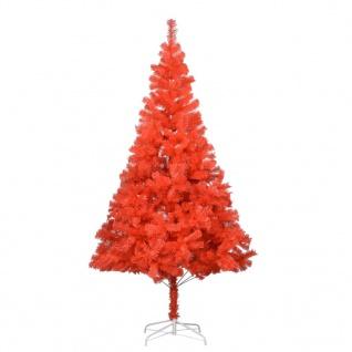 vidaXL Künstlicher Weihnachtsbaum mit Ständer Rot 180 cm PVC