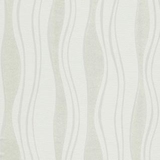 vidaXL Tapetenrollen Vlies 2 Stk. Weiß 0, 53×10 m Wellen - Vorschau 2