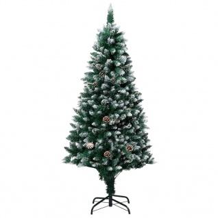 vidaXL Künstlicher Weihnachtsbaum mit Zapfen und Schnee 180 cm