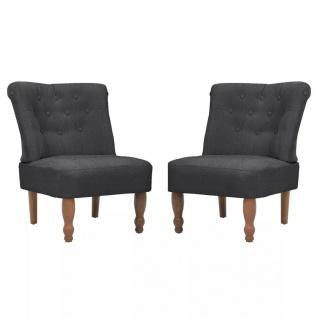 vidaXL Französische Sessel 2 Stk. Grau Stoff - Vorschau 2