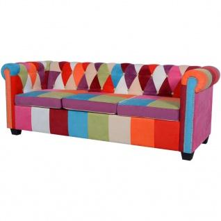 vidaXL Chesterfield Sofa 3-Sitzer Stoff