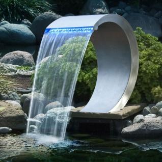 Ubbink Mamba Wasserfall Edelstahl mit LED Beleuchtung