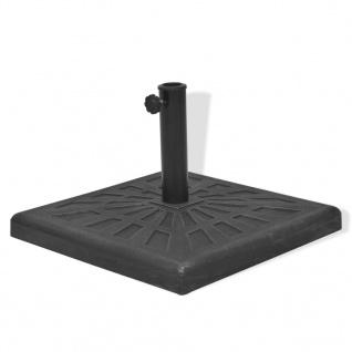 vidaXL Sonnenschirmständer Harz Quadratisch Schwarz 19 kg - Vorschau 4