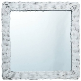 vidaXL Spiegel Weiß 50x50 cm Weide