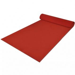 vidaXL Roter Teppich 1x5 m Extra Schwer 400 g/m² - Vorschau 3