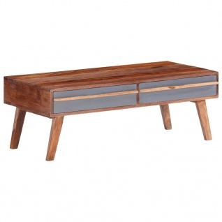 vidaXL Couchtisch Grau 110x50x40 cm Massivholz