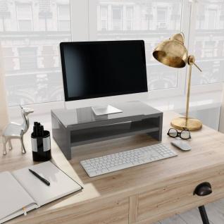 vidaXL Monitorständer Hochglanz-Grau 42×24×13 cm Spanplatte