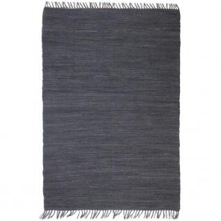 vidaXL Handgewebter Chindi-Teppich Baumwolle 80x160 cm Anthrazit