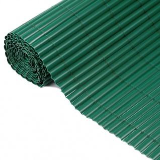 Nature Einseitiger Garten-Sichtschutz PVC 1×3 m Grün