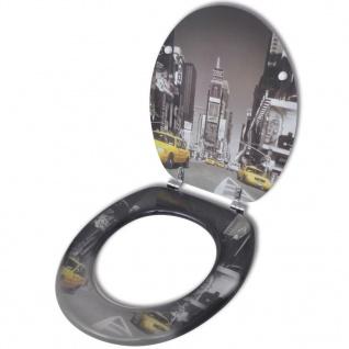 Toilettensitz WC-Sitz MDF New York Design - Vorschau 1