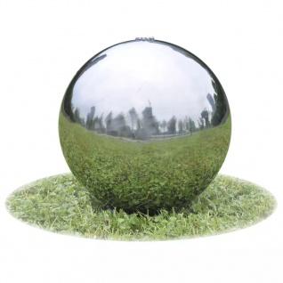 vidaXL Garten-Springbrunnen Sphere mit LEDs Edelstahl 20 cm