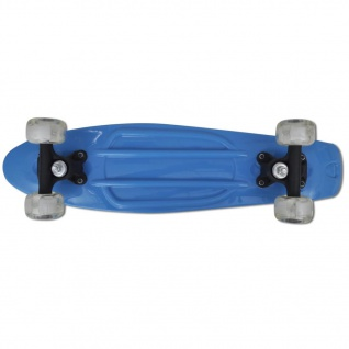Skateboard, Blau Retro mit LED Rollen - Vorschau 4