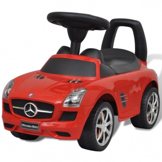 vidaXL Mercedes Benz Kinderauto Fußantrieb Rot
