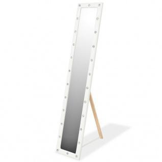 vidaXL Standspiegel Kunstleder 30 x 150 cm Glänzendes Weiß