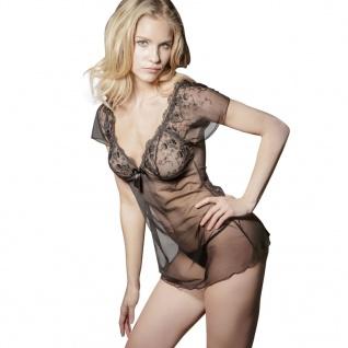 Sexy Lingerie Dessous Set Oberteil & String-Tanga Gr. S / M 2-teilig
