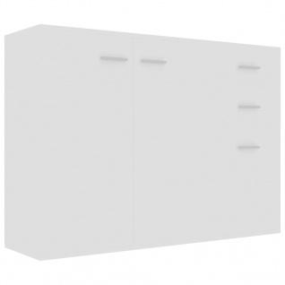 vidaXL Sideboard Weiß 105 x 30 x 75 cm Spanplatte - Vorschau 2