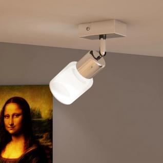 Lamp mit 1 Glasschirm LED Wandstrahler Deckenstrahler