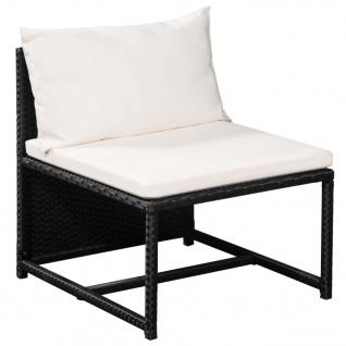 vidaXL 12-tlg. Garten-Lounge-Set mit Auflagen Poly Rattan Schwarz - Vorschau 3