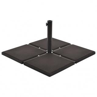 vidaXL Sonnenschirm-Gewichtsplatte Schwarz Beton Quadratisch 12 kg