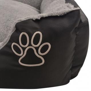 vidaXL Hundebett mit gepolstertem Kissen Größe S Schwarz - Vorschau 4