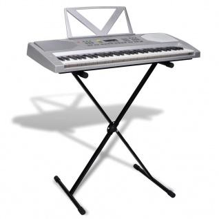 Elektronisches Keyboard 61-Tasten mit Keyboard- und Notenständer