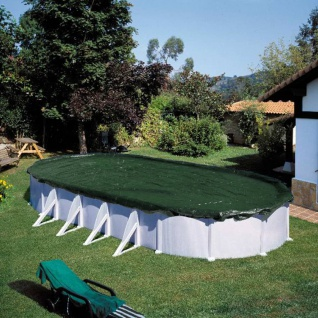 Summer Fun Winter-Poolabdeckung Oval 725 cm PVC Grün