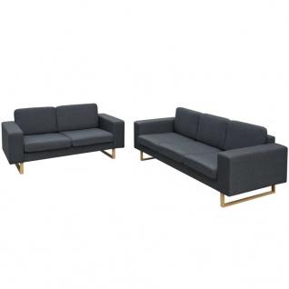 vidaXL 2-Sitzer und 3-Sitzer Sofa Set Dunkelgrau