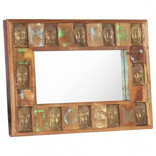 vidaXL Spiegel mit Buddha-Verzierung 80x50 cm Recyceltes Massivholz