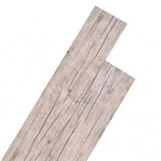 vidaXL PVC Laminat Dielen Selbstklebend 5, 02 m² 2 mm Eiche Gewaschen