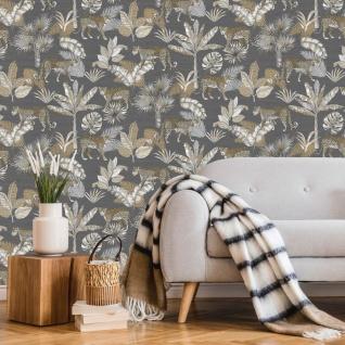 Dutch Wallcoverings Tapete Leoparden-motiv Grau Und Beige - Vorschau 1