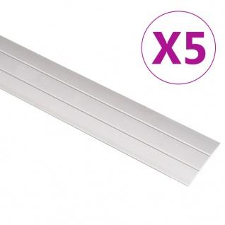 vidaXL Übergangsprofil 5 Stk. Aluminium 90cm Golden