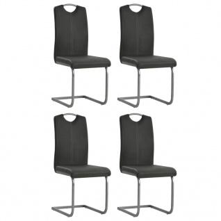 vidaXL Esszimmerstühle 4 Stk. Kunstleder 43 x 55 x 100 cm Grau