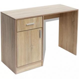 vidaXL Schreibtisch mit Schublade und Schrank Eiche 100x40x73 cm - Vorschau 2
