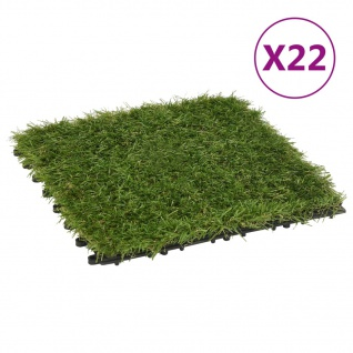 vidaXL Kunstrasen-Fliesen 22 Stk. Grün 30x30 cm