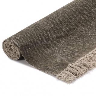 vidaXL Kelim-Teppich Baumwolle 160x230 cm mit Muster Gelb