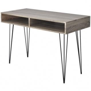 vidaXL Schreibtisch mit 2 Fächern Grau