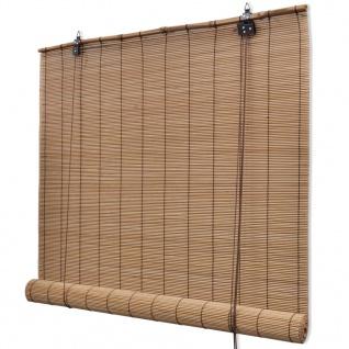 vidaXL Bambusrollo 100 x 220 cm Braun