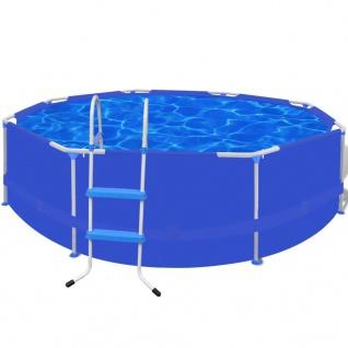 Schwimmbecken Plantschbecken Schwimmbad Pool + Leiter